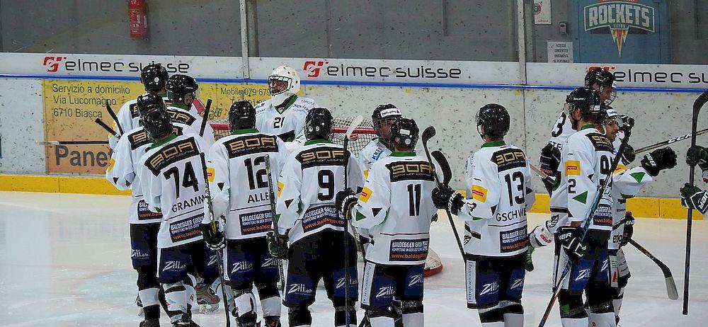 Switzerland EHC Chur Eishockey puck